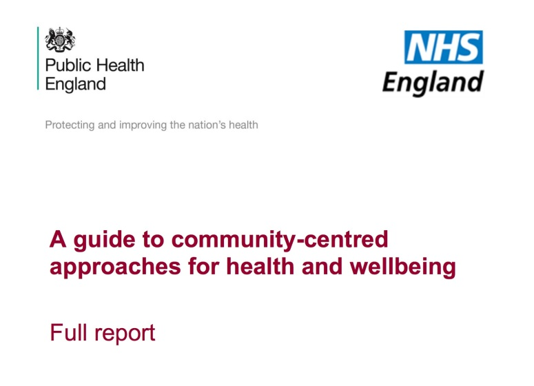A Guide to Communities In Health
